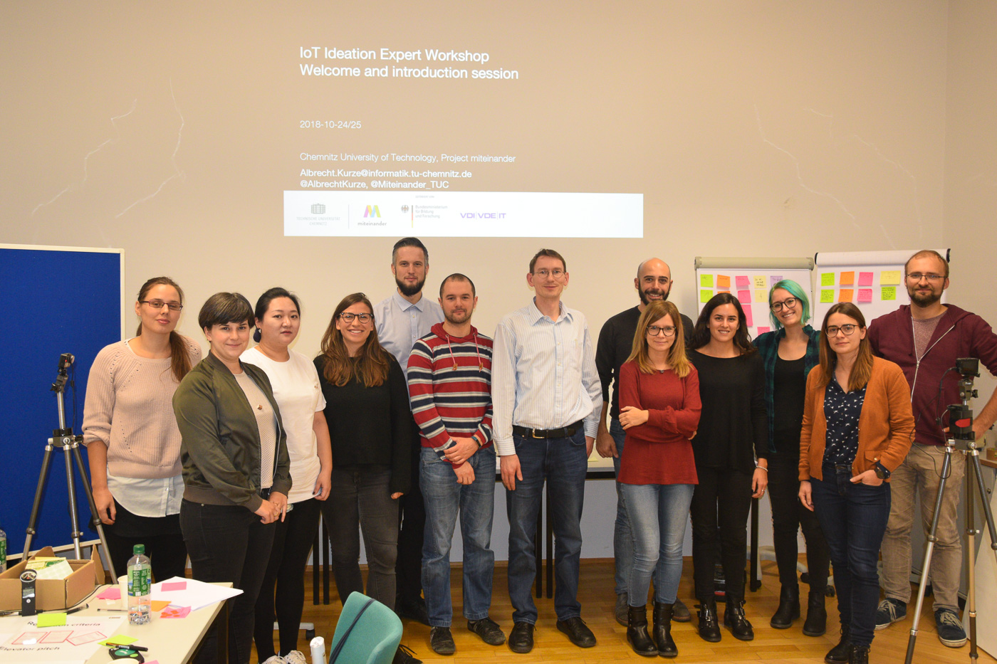Researchers from Belgium, Finland, Italy, the Netherlands and Germany in Chemnitz after our Ideation Expert Workshop